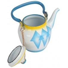 أباريق الشاي من خليط معدني ، ازرق -0.6 لتر